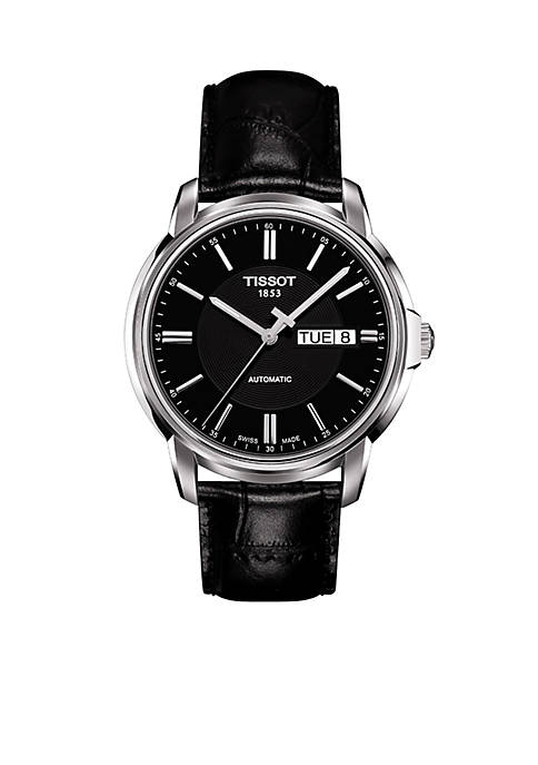 Tissot Mens Automatic III Classic Black Automatic Watch