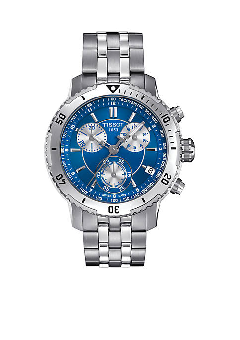 Mens PRS 200 Stainless Steel and Blue Watch