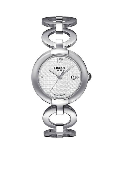 Womens Pinky Stainless Steel Bracelet Watch