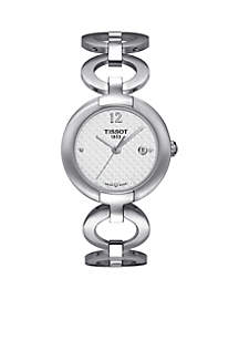 Women's Pinky Stainless Steel Bracelet Watch
