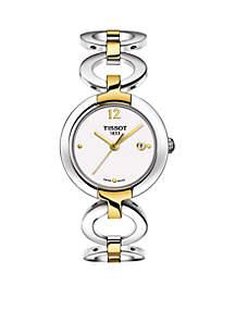 Women's Bracelet Style Two-Tone Watch