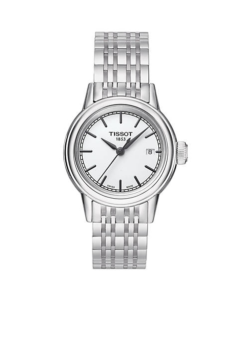 Womens Carson White Dial Stainless Steel Bracelet Watch