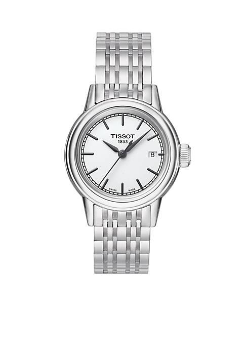 Tissot Womens Carson White Dial Stainless Steel Bracelet