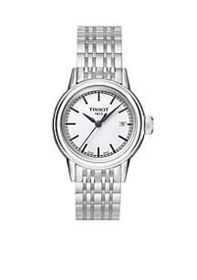 Women's Carson White Dial Stainless Steel Bracelet Watch