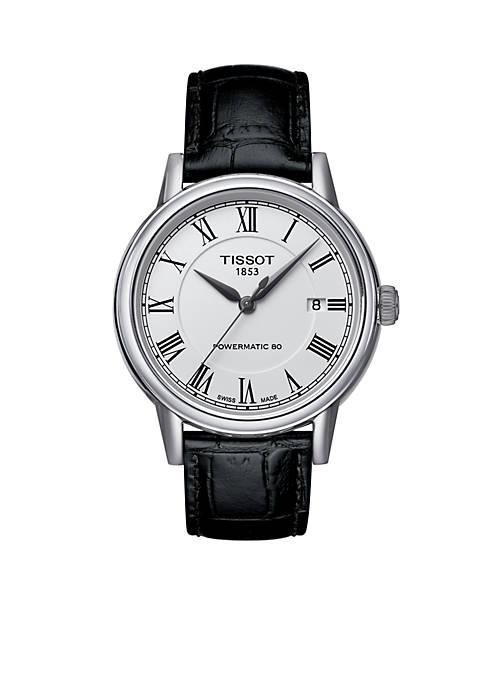 Tissot Mens T-Classic Carson White Dial Black Leather