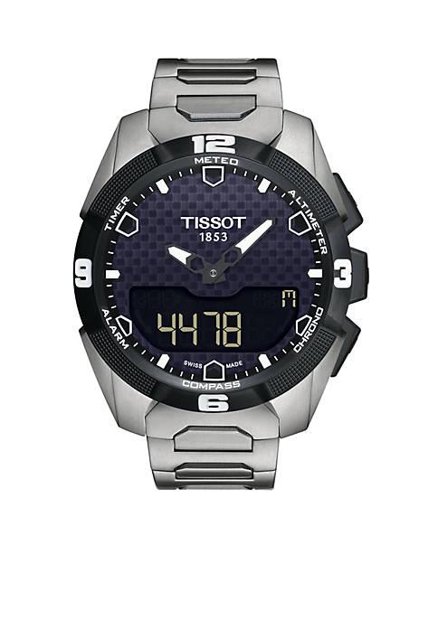 Mens T-Touch Expert Solar Titanium Bracelet Watch