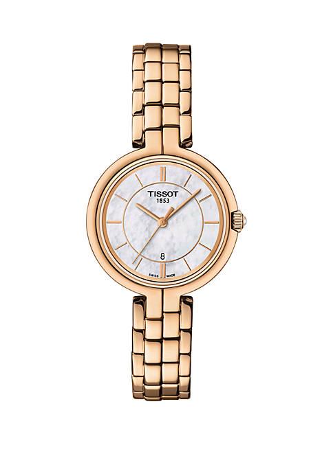 Rose Gold Stainless Steel Flamingo Bracelet Watch
