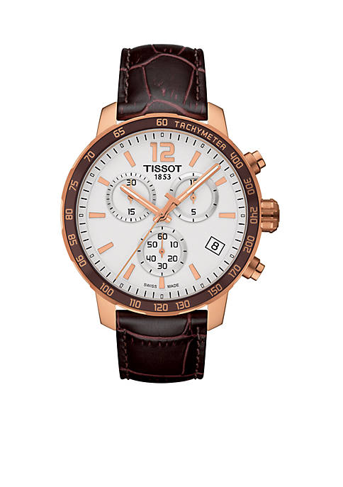 Mens Quickster Rose Gold-Tone Chronograph Watch