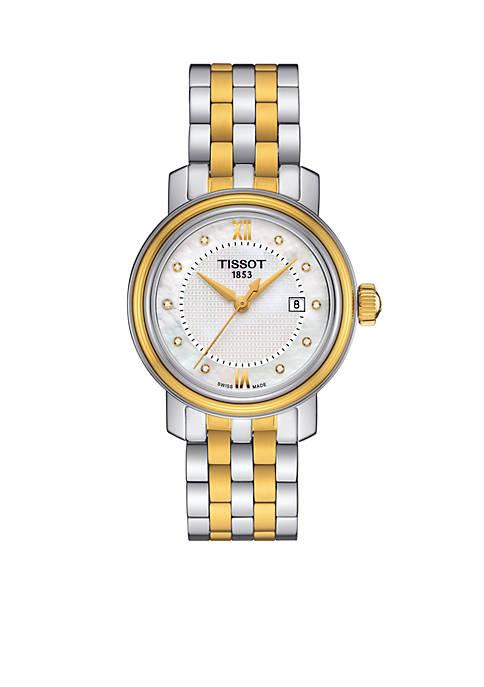 Womens Bridgeport Quartz Diamond Two-Tone Stainless Steel Bracelet Watch
