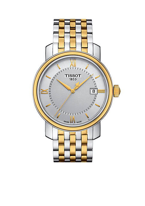 Mens Bridgeport Quartz Two-Tone Stainless Steel Bracelet Watch