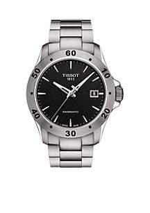 Stainless Steel Swiss Automatic T-Sport V8 Bracelet Watch
