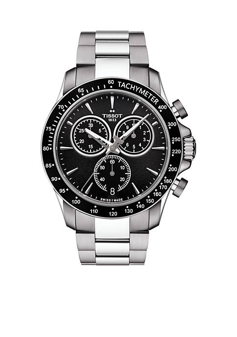 Tissot Mens Stainless Steel Swiss Chronograph V8 Bracelet