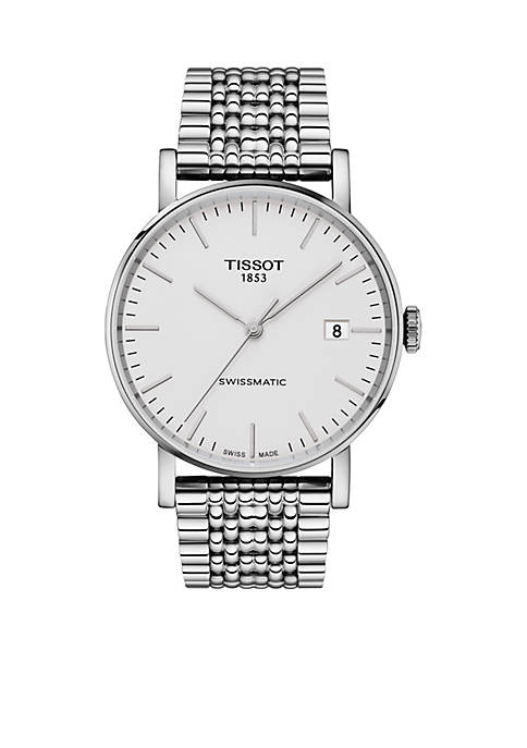 Tissot Mens Stainless Steel Swiss Automatic Everytime Swissmatic