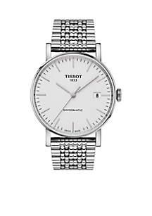 Men's Stainless Steel Swiss Automatic Everytime Swissmatic Bracelet Watch