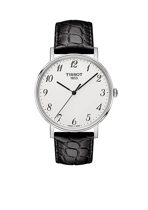Tissot Everytime Leather Strap Watch