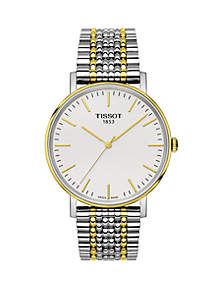 Tissot Two Tone PVD Stainless Steel Swiss Everytime Medium Bracelet Watch