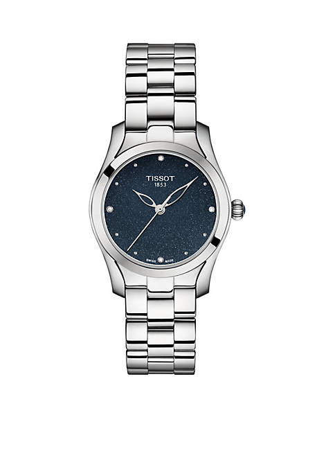 Tissot Womens Stainless Steel T-WAVE MOP Diamond Bracelet