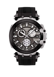 Tissot Men's Swiss Chronograph T Sport T Race Black Silicone Strap Watch