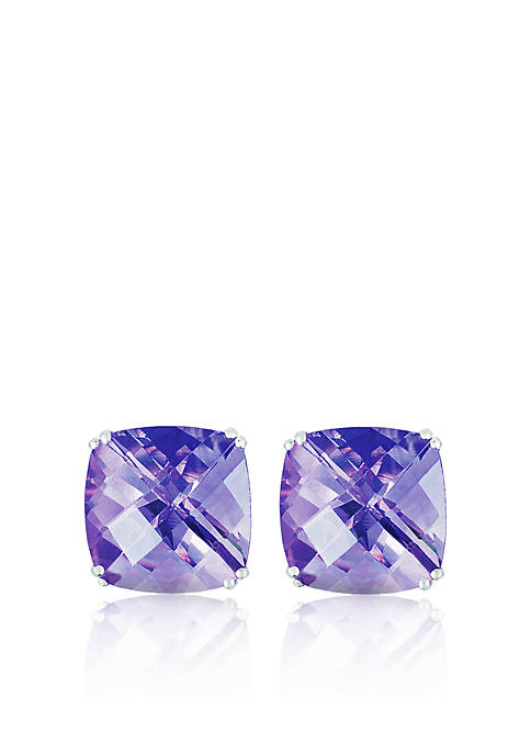 Belk & Co. 14k White Gold Amethyst Stud