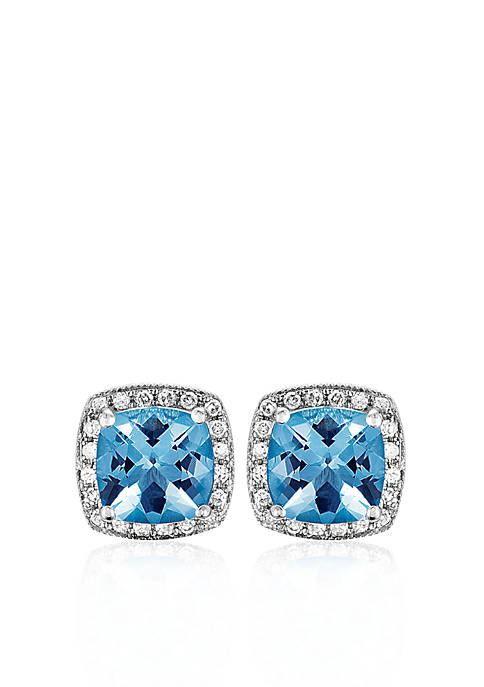 Belk & Co. 14k White Gold Blue Topaz