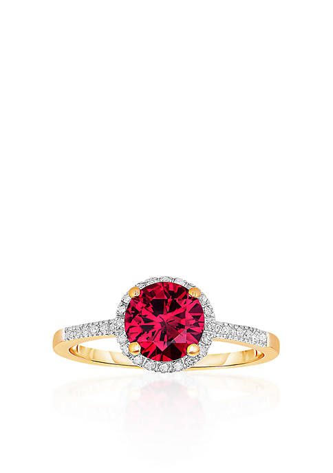 Belk & Co. 10k Yellow Gold Created Ruby