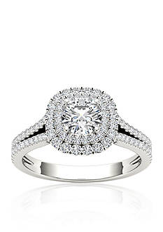 Belk & Co. 1 1/6 ct. t.w. Diamond Double Halo Engagement Ring in 14k White Gold