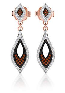 1/3 ct. t.w. Diamond Pave Drop Earrings in 10k Rose Gold