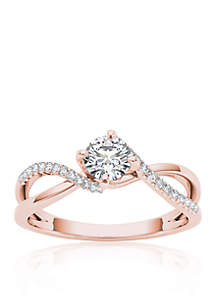 1/2 ct. t.w. Diamond Engagement Ring in 10k Rose Gold