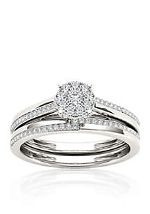 1/3 ct. t.w. Diamond Engagement Ring Set in 10k White Gold