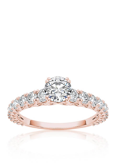 1 ct. t.w. Diamond Engagement Ring in 14k Rose Gold