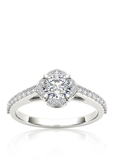 1 ct. t.w. Halo Diamond Engagement Ring in 14k White Gold