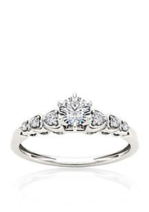 1/3 ct. t.w. Diamond Luscious Solitaire Ring in 10k White Gold