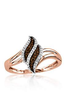 1/10 ct. t.w. Diamond Ring in 10k Rose Gold