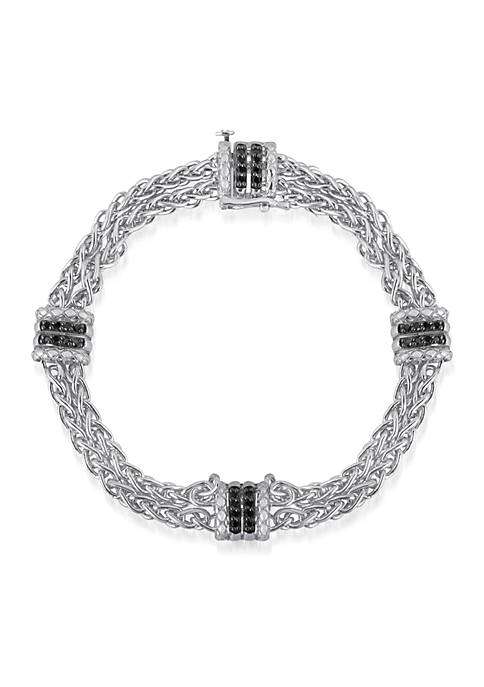 Black Diamond Bracelet in Sterling Silver