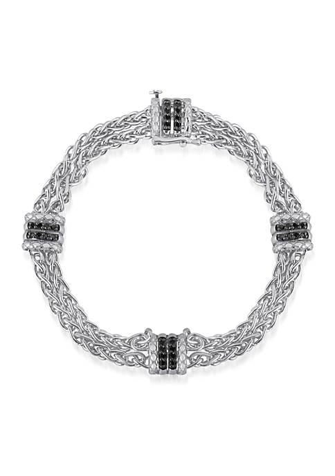 Belk & Co. Black Diamond Bracelet in Sterling