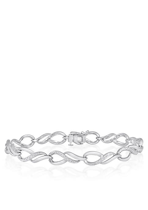 Belk & Co. Diamond Tear Drop Bracelet in