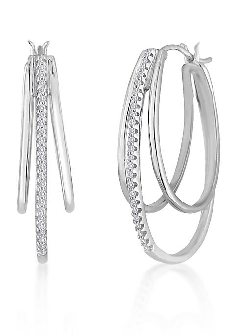 Belk & Co. Diamond Triple Hoop Earring in