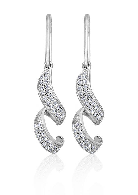 Belk & Co. Diamond Swirl Earrings in Sterling