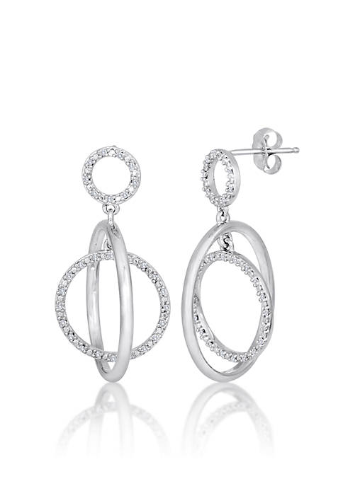 Belk & Co. Diamond Circle Earrings in Sterling