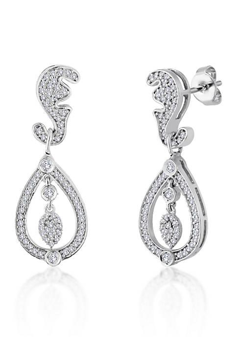 Belk & Co. Diamond Tear Drop Earrings in