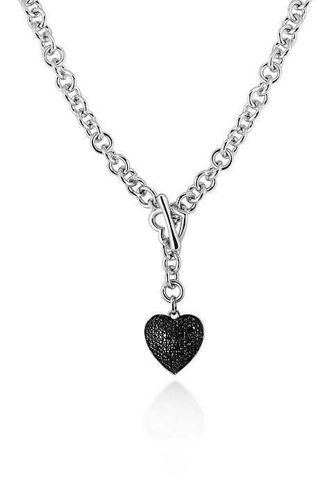 Belk & Co. Black Diamond Heart Pendant in