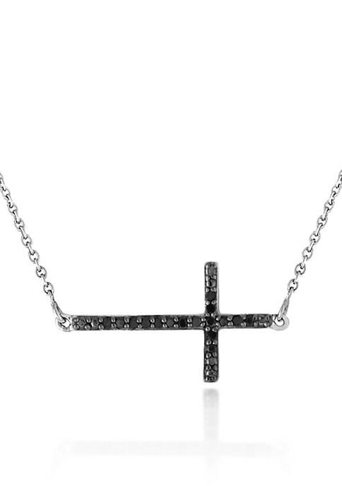 Belk & Co. Black Diamond Cross Pendant in