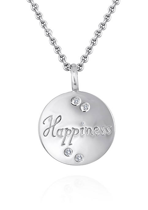 "Belk & Co. Diamond ""Happiness"" Pendant in Sterling"