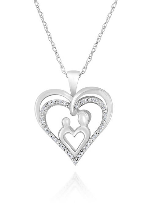 Belk & Co. Diamond Mom and Child Heart