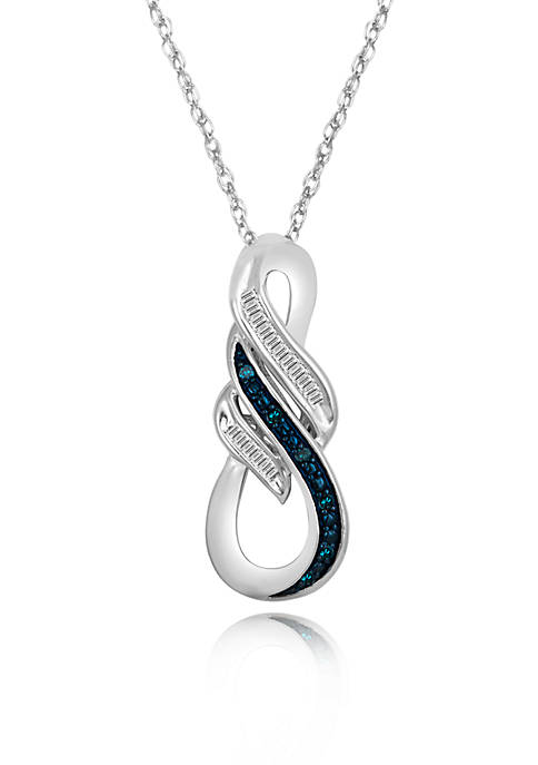 Belk & Co. Blue and White Diamond Pendant