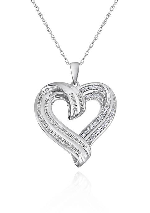 Belk & Co. Diamond Heart Pendant in Sterling