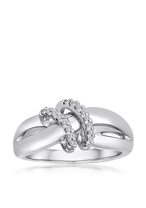 Belk & Co. Diamond 2 Loop Ring in