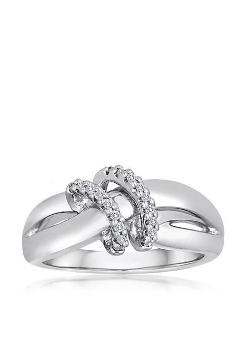 Belk & Co. Diamond 2 Loop Ring in
