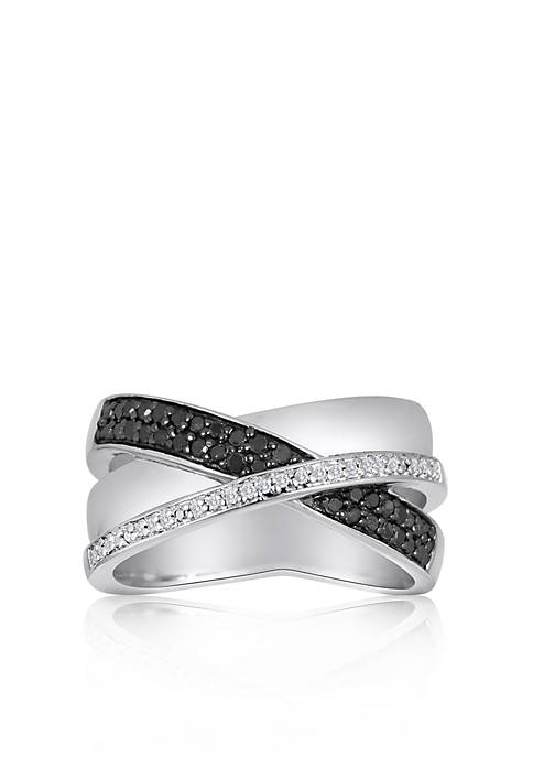 Belk & Co. Black and White Diamond Crossover
