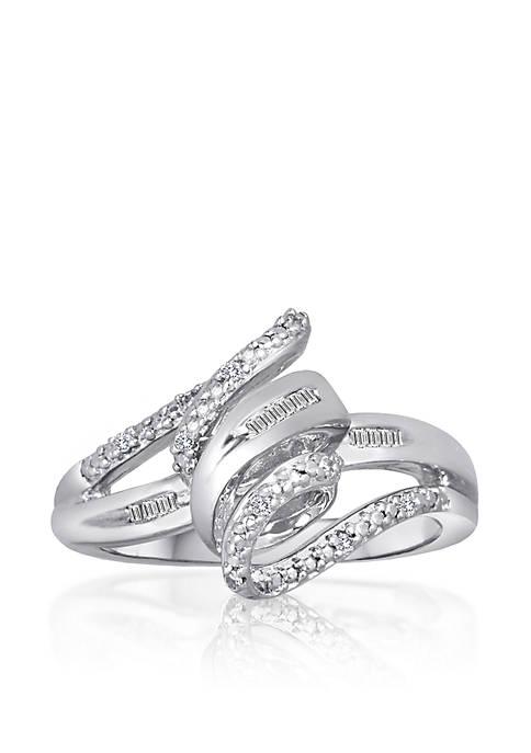Belk & Co. Diamond Twist Ring in Sterling